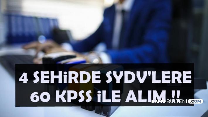 SYDV'lere 4 Şehirde 60 KPSS ile Kamu Personeli Alımı