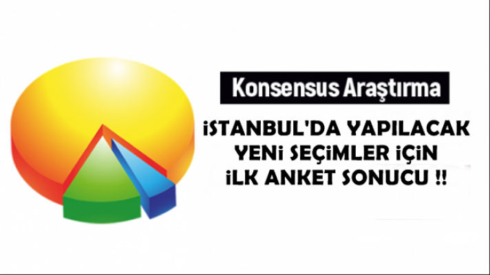Yenilenecek İstanbul Seçimleri İçin İlk Anket Sonucu Açıklaması Geldi