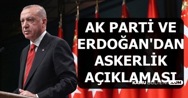 Cumhurbaşkanı Erdoğan'dan Tek Tip Askerlik Açıklaması