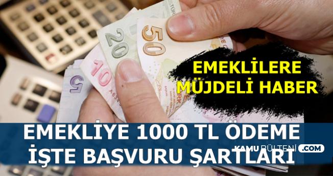 Emeklilere Müjdeli Haber: 30 Haziran'da 1000 TL İkramiye