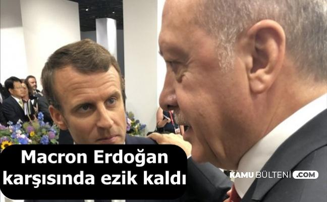 G-20'de Macron, Cumhurbaşkanı Erdoğan Karşısında Ezik Kaldı