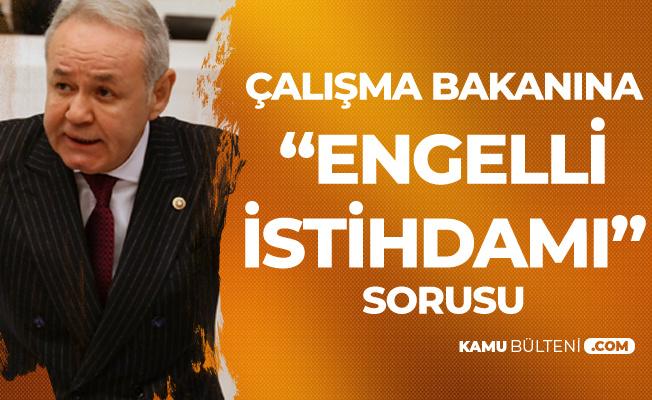 """İYİ Partili Aydın Adnan Sezgin'den Çalışma Bakanına """"Engelli İstihdamı"""" Soruları"""