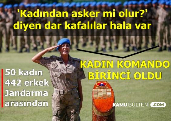 Kadın Subay, Jandarma Komando Kursunu Birincilikle Bitirdi