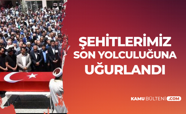 PKK'lı Bölücü Teröristlerin Katlettiği Yol İşçileri Defnedildi