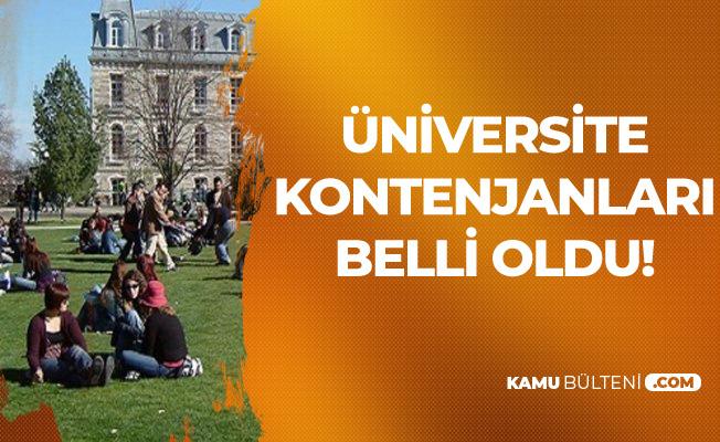 Son Dakika! Üniversite Kontenjanları Belli Oldu