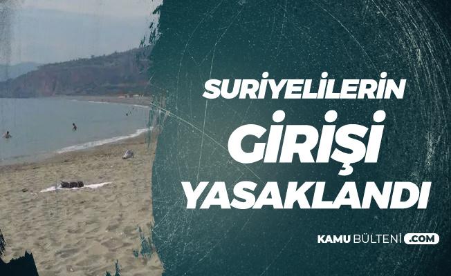Suriyelilerin Halk Plajına Girişi Yasaklandı