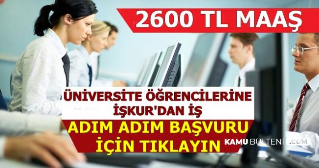 Üniversite Öğrencilerine 2600 TL ile İş: İşte SÇP İŞKUR Adım Adım Başvuru
