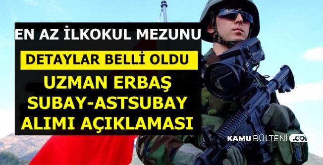 Jandarma MSB Uzman Onbaşı Erbaş-Astsubay ve Subay Alımı Açıklaması Geldi (İlkokul-Lise-Üniversite)
