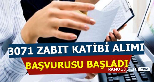 Adalet Bakanlığı 3 Bin 71 Zabıt Katibi Alımı Yapıyor-Başvurular Başladı