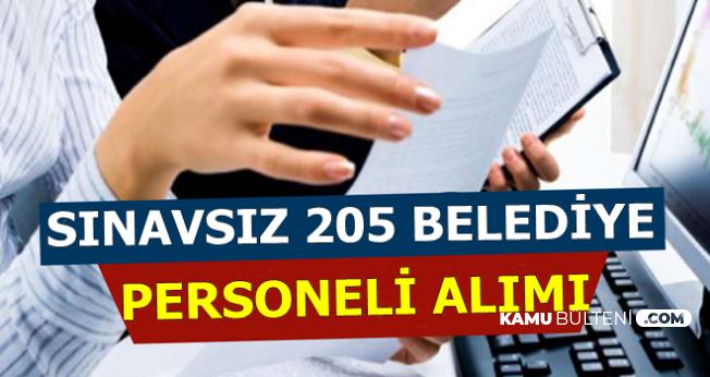 Sınavsız 205 Belediye Personeli Alımı