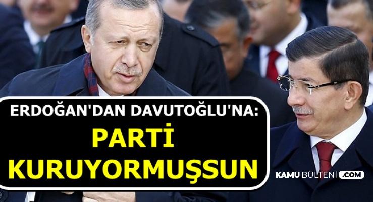 """Erdoğan """"Parti Kuruyormuşsun"""" Dedi-İşte Davutoğlu'nun Cevabı"""
