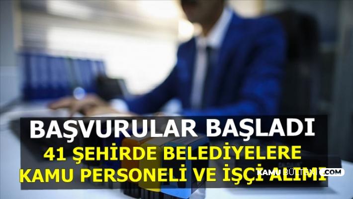 İŞKUR Kamu İlanları: 2-3 Bin TL Maaşla 41 Belediyeye Personel Alımı