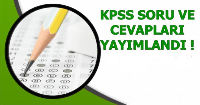 KPSS A Grubu ve Öğretmenlik Soru Cevapları Yayımlandı