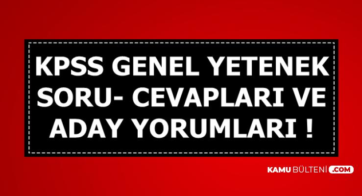 KPSS GY-Genel Yetenek Soru-Cevapları ve Aday Yorumları-Matematik Türkçe Soruları