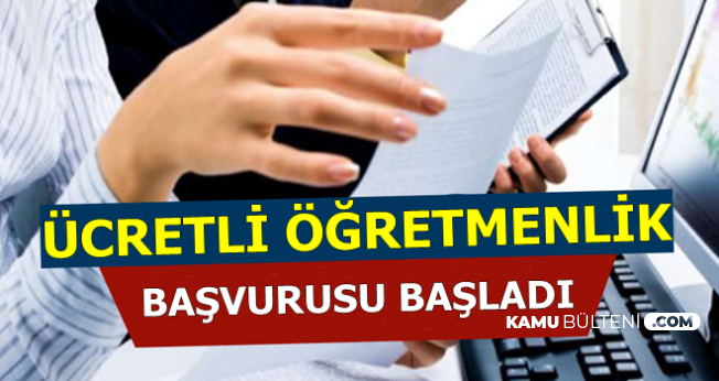 MEB Ücretli Öğretmen Alımı Başvurusu-KPSS Şartı Yok