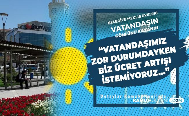 'Maaş Zammı İstemeyen İYİ Parti Sincan Belediye Meclis Üyelerine Vatandaştan Tam Destek'