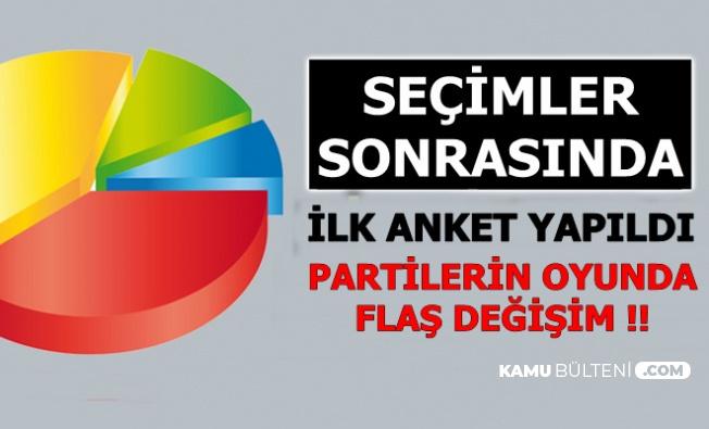 Seçim Sonrası İlk Anket Sonucu Açıklandı: Partilerin Oyunda Flaş Değişiklik