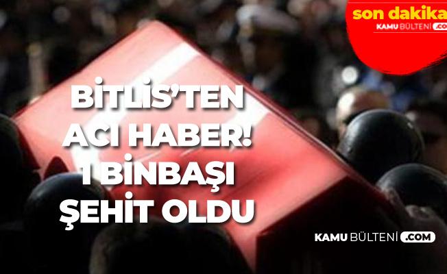 Son Dakika: Bitlis'ten Kahreden Şehit Haberi