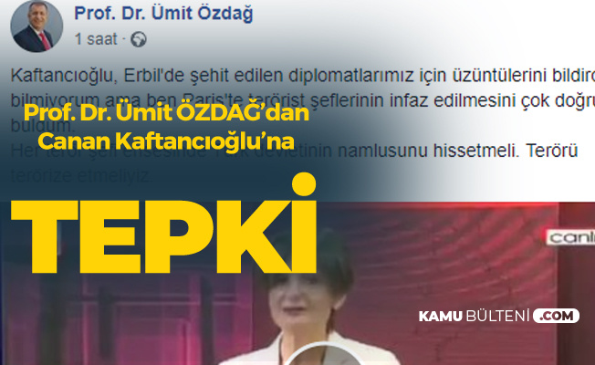 Teröristlerin Öldürülmesine 'Vahşet' Diyen Canan Kaftancıoğlu'na Ümit Özdağ'dan Tepki