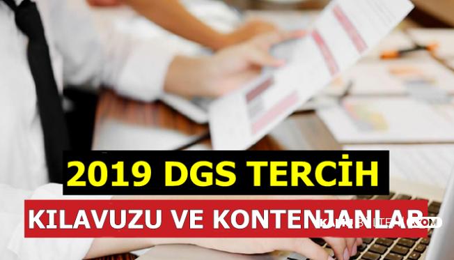 2019 DGS Tercih Başvuru Ekranı Açıldı