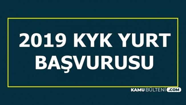 2019 KYK Yurt Başvuru Ekranı (E Devlet Girişi)