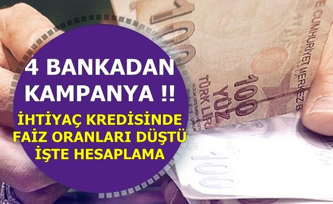 4 Bankadan İyi Haber: İhtiyaç Kredisinde Faiz Oranları Düştü- Ayda 152 TL Taksitle..