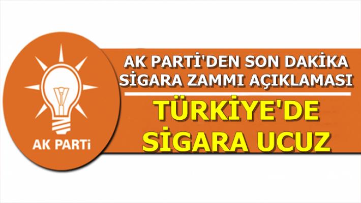 AK Parti'den Son Dakika Sigara Zammı Açıklaması (İşte Güncel Sigara Fiyatları)