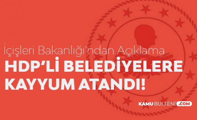 Diyarbakır-Mardin-Van Belediye Başkanları Görevinden Alındı-İçişleri Nedenini Açıkladı