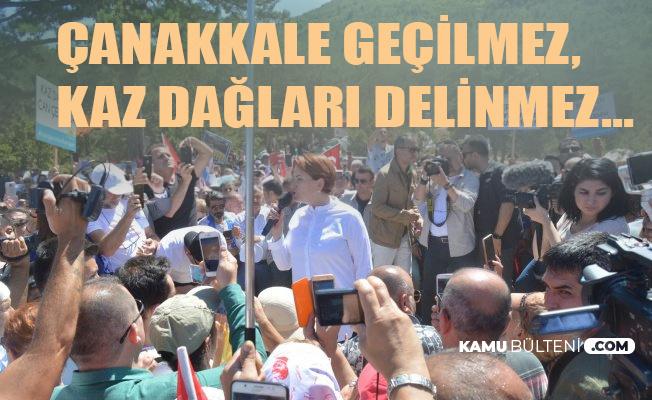 İYİ Parti Lideri Akşener Kaz Dağları'nda: Çanakkale Geçilmez, Kaz Dağları Delinmez