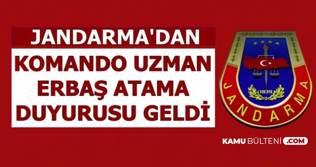 Jandarma Komando Uzman Erbaş Atama Duyurusu Geldi