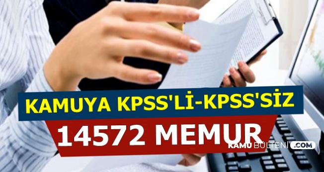 Kamuya KPSS'li ve KPSS'siz 14 Bin 572 Personel ve Memur Alımı