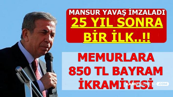 Mansur Yavaş İmzaladı: Ankara'da Memurlar 25 Yıl Sonra İlk Kez Bayram İkramiyesi Alacak