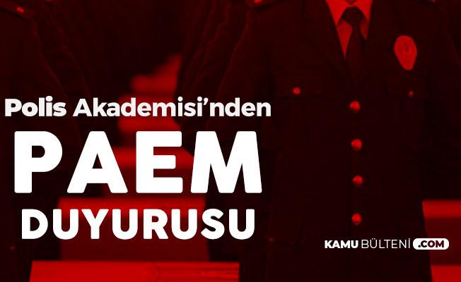 Polis Akademisi Başkanlığı'ndan PAEM Duyurusu: 2 Eylül'de Yapılacak
