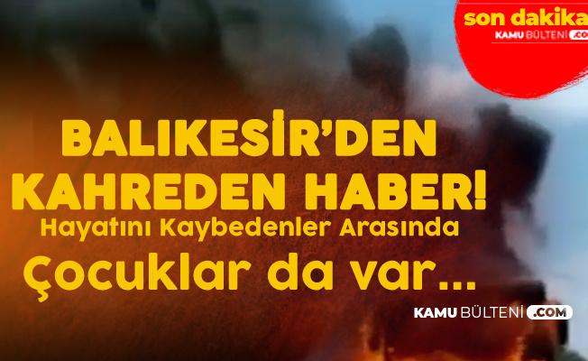Son Dakika: Balıkesir'de Seyir Halindeki Otobüste Yangın Çıktı! 5 Kişi Hayatını Kaybetti