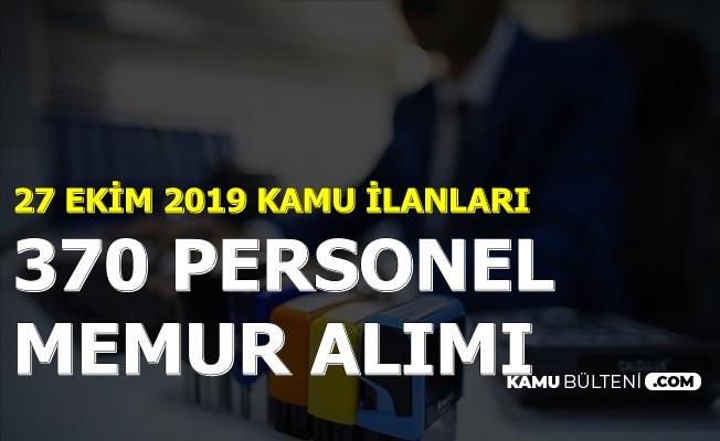 27 Eylül 2019 Kamu İlanları: KPSS'siz ve KPSS ile Personel Memur Alımı