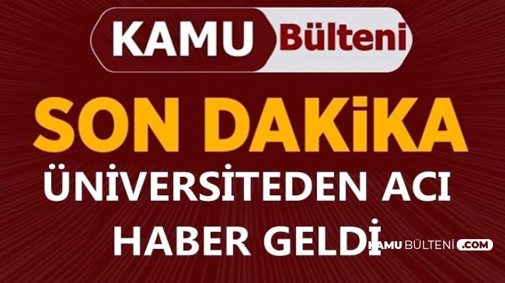 Ege Üniversitesi Kampüsünde Kaza: Acı Haber Geldi