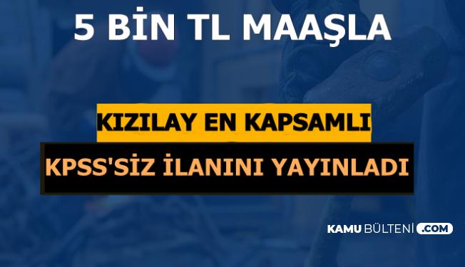 En Kapsamlı İlan Geldi: Kızılay'a KPSS'siz 5 Bin TL Maaşla Personel Alımı
