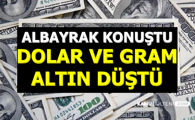 Flaş: Berat Albayrak Konuştu Dolar ve Gram Altın Fiyatı Düştü