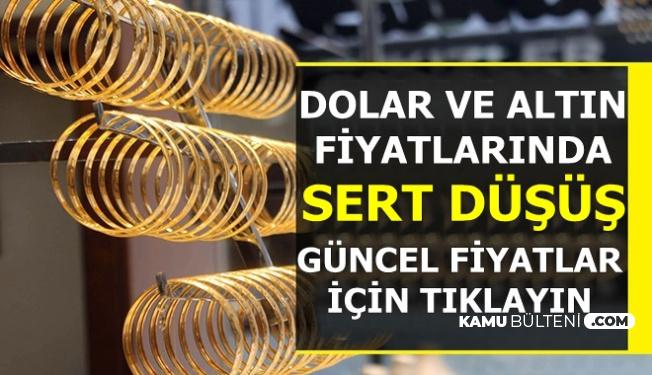 Flaş: Dolar Kuru ve Altın Fiyatlarında Sert Düşüş-İşte Güncel Fiyatlar