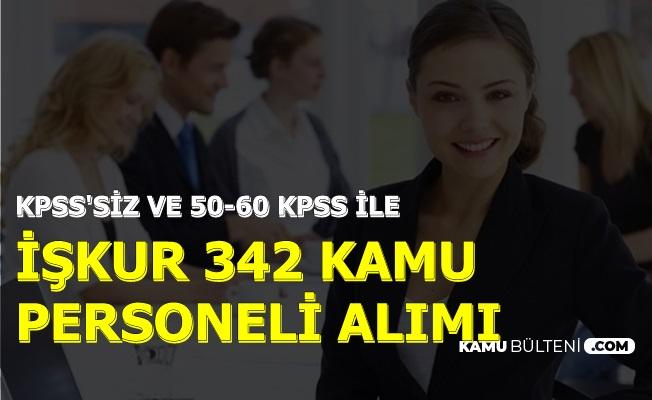 İŞKUR 20 Eylül 2019 Kamu İlanları: 17 Kamu Kurumuna 342 Personel Alımı