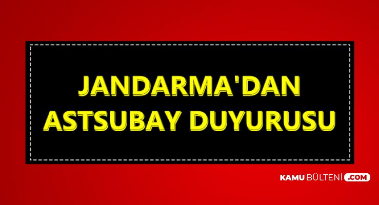Jandarma'dan Astsubay Duyurusu 2019