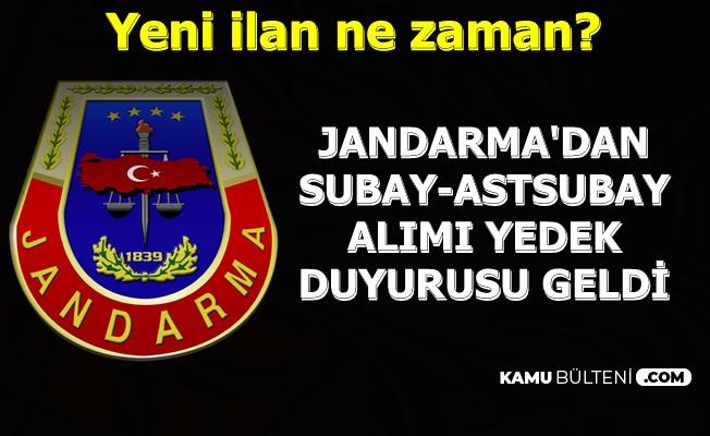 Jandarma'dan Subay-Astsubay Alımı Yedek Duyurusu-Yeni İlan Ne Zaman?