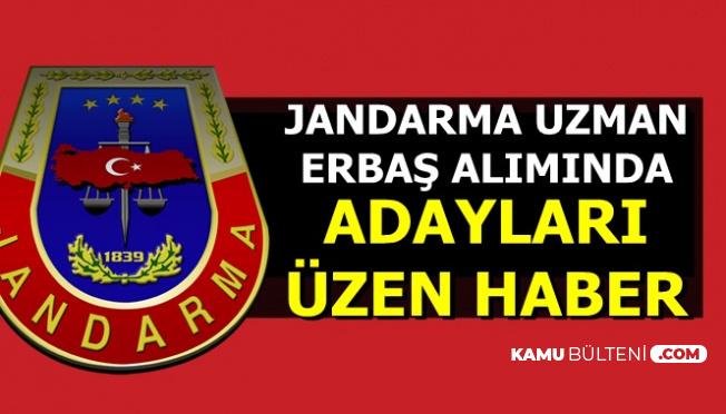 2019 Jandarma Asayiş Komando Uzman Erbaş Alımında Üzen Haber