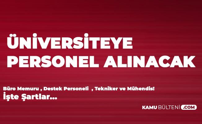 Konya Teknik Üniversitesi'ne Lise, Önlisans, Lisans Mezunlarından Personel Alınacak