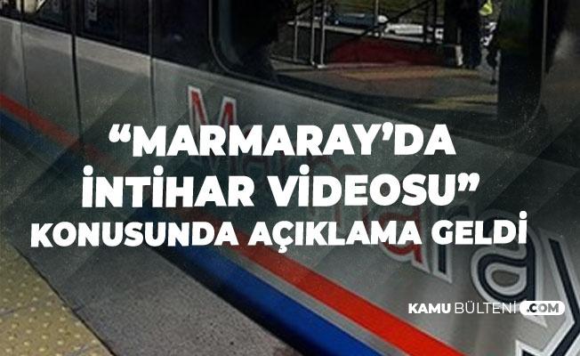 Marmaray'da İntihar İddialarıyla İlgili TCDD'den Açıklama Geldi