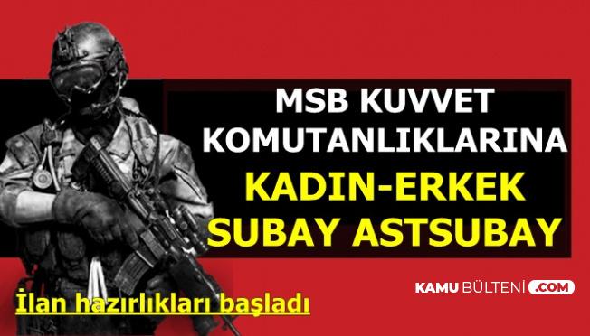 MSB Kuvvet Komutanlıklarına 2019 Kadın-Erkek Subay-Astsubay Alımı Yapılacak