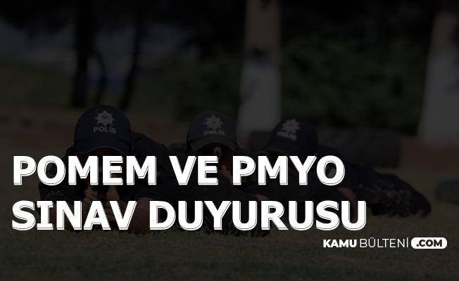 POMEM ve PMYO Sınav Duyurusu
