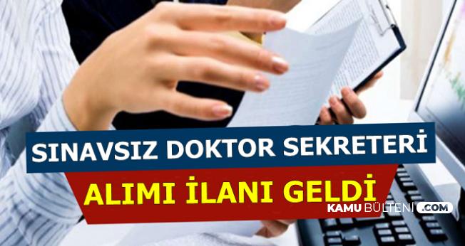 İŞKUR'da Sınavsız Doktor Sekreteri Alımı İlanı Yayınlandı