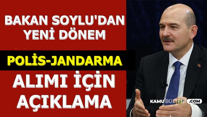 Süleyman Soylu'dan Jandarma ve Polis Alımı Açıklaması 2019
