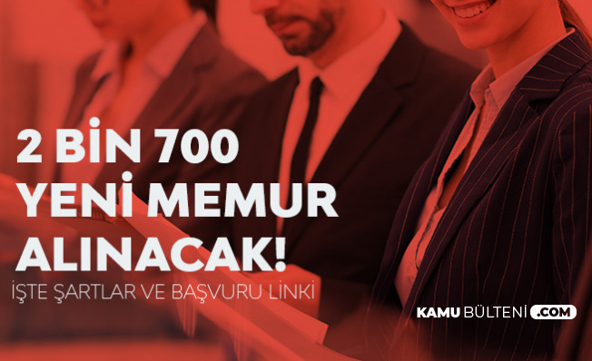 Tarım Bakanlığı'na 2700 Memur Alınacak! Başvurular İnternetten